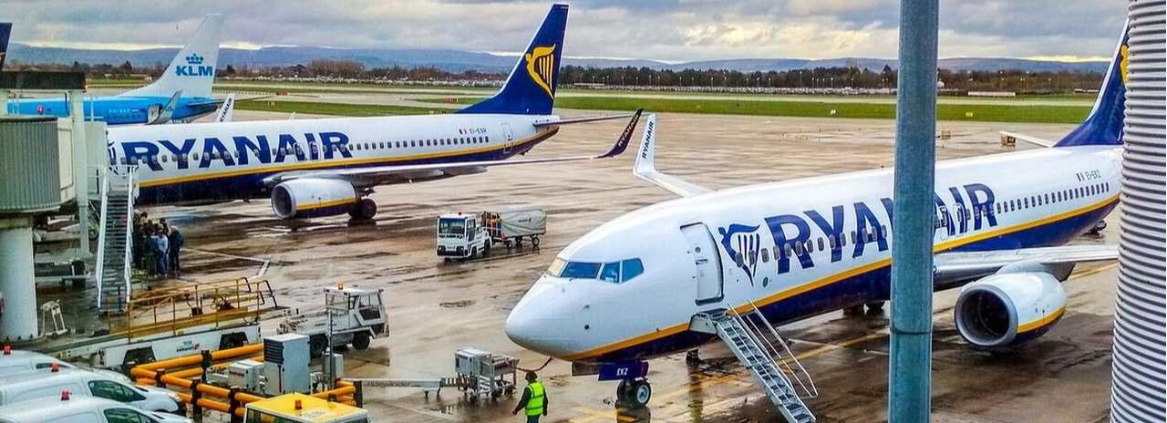 samolot linii lotniczej Ryanair